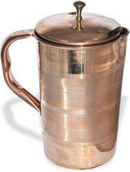 Style Homez Plain Pure Copper Jug Pitcher, For Drinking water, Health Benefits, 1.8 Liters Water Jug(1.8 L)