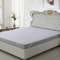 @home Elastic Strap King Size Mattress Protector(White)