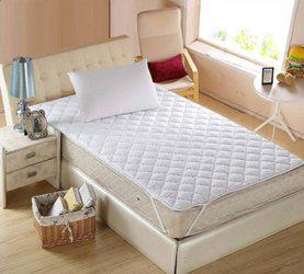 @home Elastic Strap Single Size Waterproof Mattress Protector(White)
