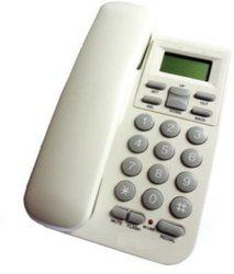 Ae Zone KX-T1555 Landline Caller ID Corded Phone Telephone For Office and Home White Cordless Landline Phone(White)