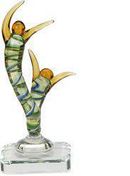 Afast Showpiece  -  13.5 cm(Glass, Multicolor)