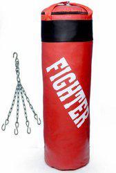Fighter punching bag red Boxing Kit
