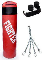 Fighter Red punching Bag combo2 Boxing Kit