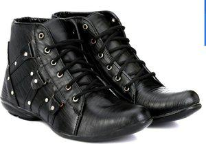 FADISO Ammunition boots Boots For Men(Black)