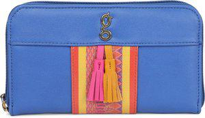 Global Desi Women Casual Blue Artificial Leather Wallet(8 Card Slots)