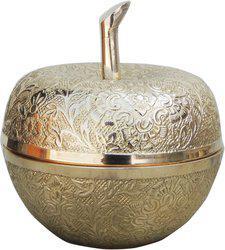 Brass Gift Center Decorative Showpiece  -  11 cm(Brass, Yellow)