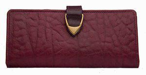 Hidesign Women Purple Genuine Leather Wallet(1 Card Slot)