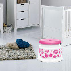 Milton Multipurpose Premium Quality Plastic Duplex Crown Stool Bathroom Stool(Pink)