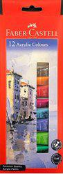 Faber-Castell Acrylic Paint Tube Set - Pack of 12 Shades 9ml tubes