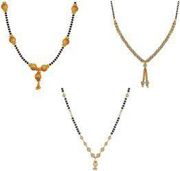 aabhu Combo of 3 Stylish Alloy Mangalsutra