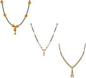 aabhu Combo of 3 Fashionable Alloy Mangalsutra