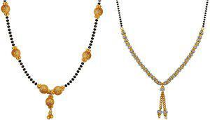 aabhu Combo of 2 Fashionable Alloy Mangalsutra