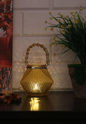 Gold Glass Hanging Lantern