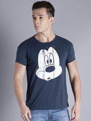 Kook N Keech Disney Men Navy Printed Round Neck T-shirt