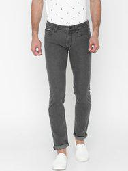 American Bull Men Grey Slim Fit Low-Rise Clean Look Stretchable Jeans