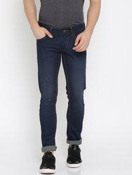 American Bull Men Blue Skinny Fit Low-Rise Clean Look Stretchable Jeans
