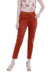 109F Women Orange Regular Fit Solid Regular Trousers