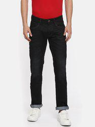 American Bull Men Blue Slim Fit Low-Rise Clean Look Stretchable Jeans