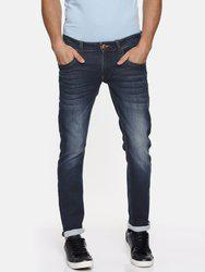 American Bull Men Blue Skinny Fit Low-Rise Low Distress Stretchable Jeans