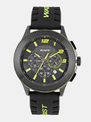 Roadster Men Black & Yellow Analogue Watch MFB-PN-SKM-9136