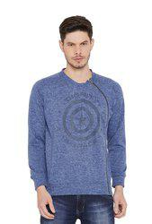 Duke Dark Blue Round Neck Sweatshirt