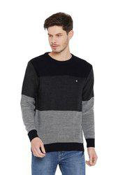 Duke Navy & Grey Round Neck Sweater