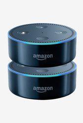 Amazon Echo Dot Twin Pack Smart Speaker (Black)