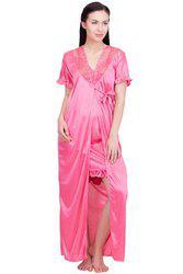 Lesuzaki Two Piece Pink Nighty For women's