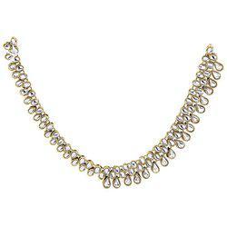 9blings Designer 3 line Muslim Bridal Passa Jhoomar Hair Head Jewelry