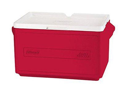 Coleman 33Qt/124.9 litres 48 Cans Party Stacker Cooler (Red)