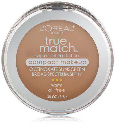 L'Oreal Paris True Match Super-Blendable Compact Makeup Natural Beige 0.30 Ounces