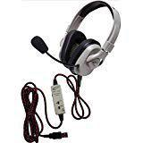 Califone HPK-1510 Titanium Series Headset with Guaranteed for Life Cord and USB Plug; Washable Headset for Easy Cleaning; Softer, More Comfortable Ear Cushions; Comfort Strap for Longer Wearability