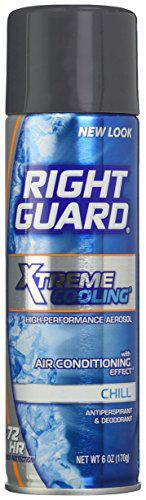 Right Guard Xtreme Cooling Chill Antiperspirant and Deodorant Spray for Men, 6 Ounce