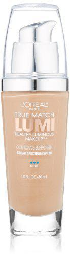L'Oral Paris True Match Lumi Healthy Luminous Makeup, C5 Classic Beige, 1 fl. oz.
