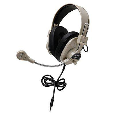 Califone 3066AVT Deluxe Stereo Headset With To Go Plug Adjustable Headband Noise-reducing Earcups Volume Control 3.5mm To Go Plug