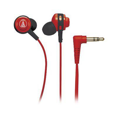 Audio-Technica Core Bass ATH-COR150RD in-Ear Headphones (Red)