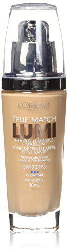 L'Oral Paris True Match Lumi Healthy Luminous Makeup, C4 Shell Beige, 1 fl. oz.