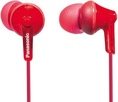 Panasonic RP-HJE125E-R in-Ear Canal Insidephone for iPod/MP3 Player (Red)