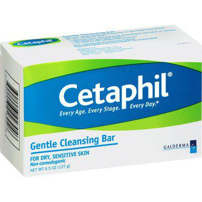 Cetaphil Gentle Cleansing Bar for Dry/Sensitive Skin 4.50 oz (Pack of 12)