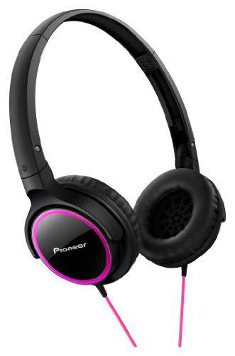 PIONEER Fully Enclosed Dynamic Headphones SE-MJ512-PK (Pink & Black)