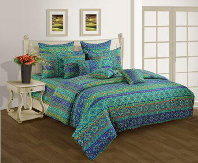 Swayam Shades N More Printed Cotton Double Duvet Cover - Beige (TSR02-1423)