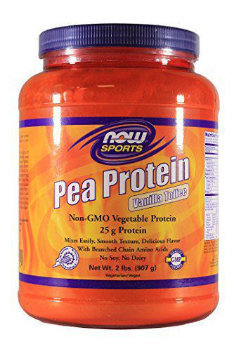 Now Foods PEA PROTEIN VANILLA TOFFEE 2 LBS 2 Pack