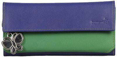 Butterflies Electric Blue and Green Wallet (BNS 2039)