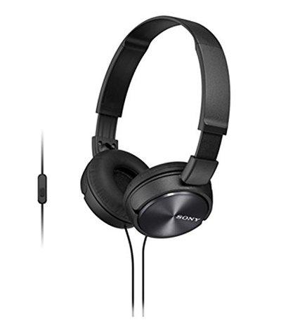 Sony MDR-ZX310AP On Ear Headphone with Mic (Black)