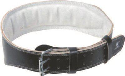 USI Weight Lifting Belt 4-Inch Padded Leather, 46in (Black)