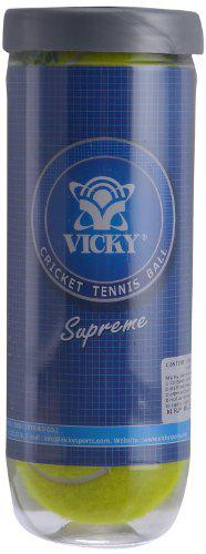 Vicky Supreme Heavy Cricket Tennis Ball (Yellow)