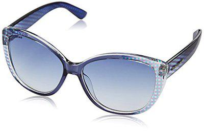 Fastrack Blue Cateye Women Sunglasses (P254BU1F)