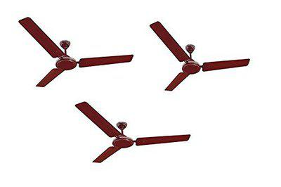 Orpat Air Flora 48-inch Economy Ceiling Fan (Brown and Pack of 3)