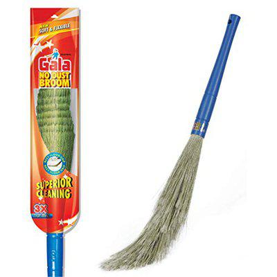 Gala No Dust Broom For Floor Cleaning, broom stick for home floor cleaning, Jhadu for home cleaning, Made of washable Fibers (Pack of 1)