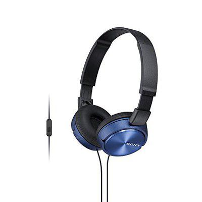 SONY MDR-ZX310AP Sound Monitoring Headphones Blue
